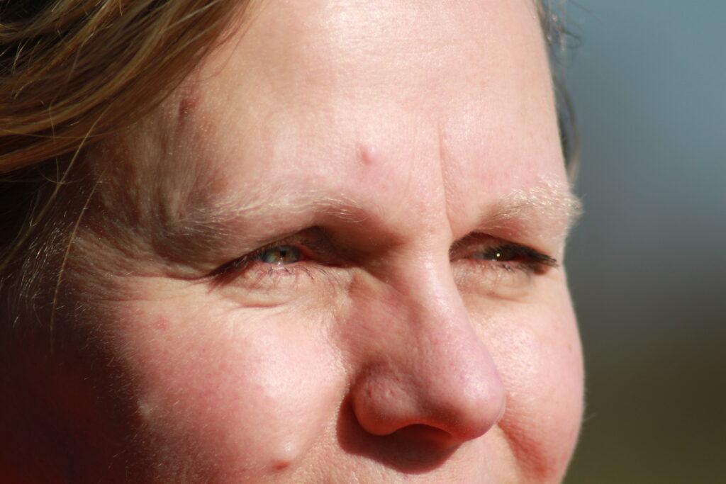Dit is een close-up foto van Desirée Braams. Deze tekst bij de foto gaat over Desirée